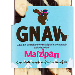 Marzipan Dark Chocolate Bar - food & drink gifts