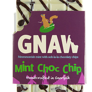 Mint Choc Chip Chocolate Bar - food & drink gifts