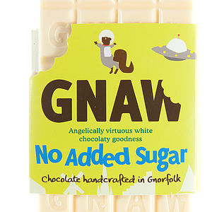 No Added Sugar White Chocolate Bar - food & drink gifts