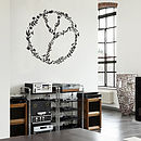 Floral Peace Sign Wall Sticker