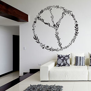 Nature Peace Sign Wall Sticker - pictures, prints & paintings