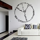 Nature Peace Sign Wall Sticker