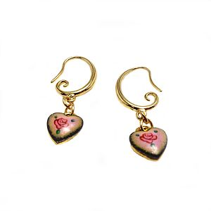Heart Enamel Earrings - earrings