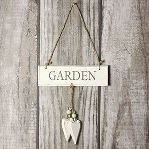 'Garden' Hanging Door Sign