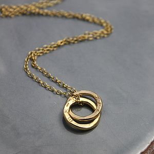 Personalised Mini Interlinking Necklace - necklaces & pendants