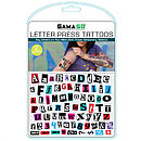 Party Alphabet Tattoos