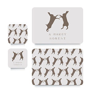 Hare Coaster Or Placemat - easter kitchen