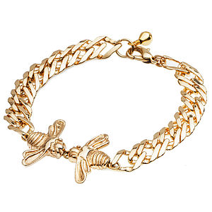 Kissing Bees Chain Bracelet