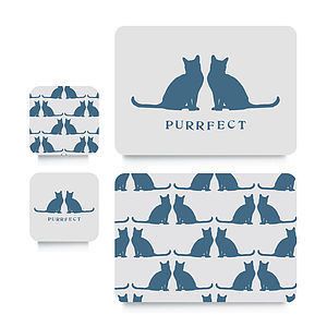 Cat Coaster Or Placemat - for pet lovers
