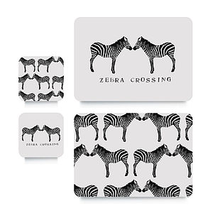 Zebra Coaster Or Placemat - placemats & coasters
