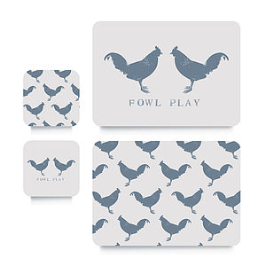 Chicken Coaster Or Placemat - tableware