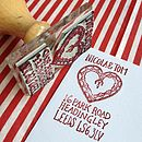 Personalised Deco Heart Address Stamp