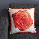 Linen Flower Cushion