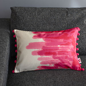Painted Cushion - colour pop living room