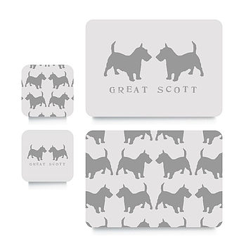 Scottie Coaster Or Placemat