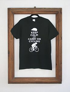 'Carry On Cycling' T Shirt - women's fashion