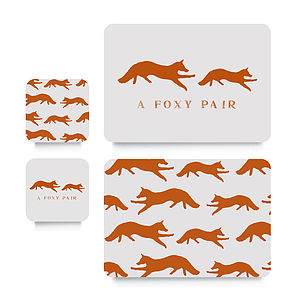 Fox Coaster Or Placemat - kitchen