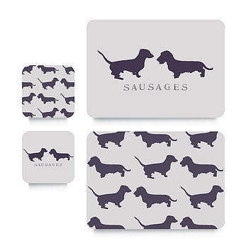 Sausage Dog Coaster Or Placemat