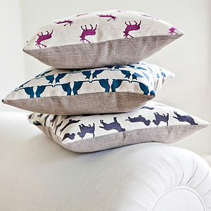 Cats Linen Cushion - cushions