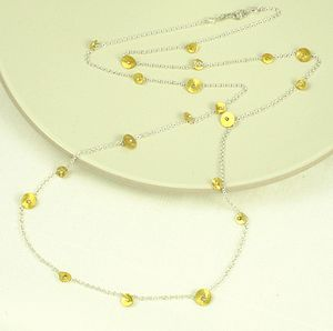 shangri-la silver and gold necklace