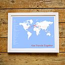 Personalised Ultimate Traveller Print