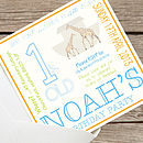 NEW noah's Ark Birthday Party invites