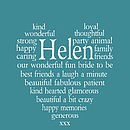 Personalised heart print - teal
