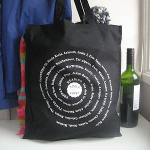Personalised 'Loves' Cotton Shopper Bag