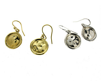 Silver Or Gold Vermeil Bottle Top Earrings