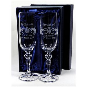 Personalised Wedding Champagne Flutes - kitchen