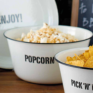 Enamel Popcorn Bowl - kitchen