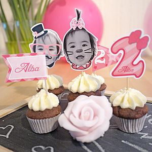 Personalised Birthday Girl Cake Toppers