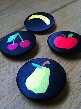 Satin Fruit Badge