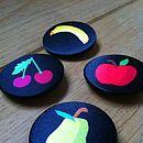 Satin Fruit Badge