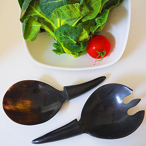Buffalo Horn Serving Set