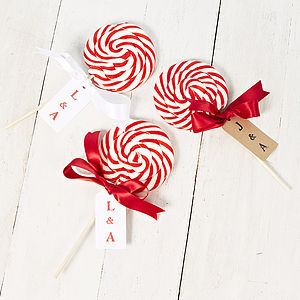 Giant Personalised Swirly Love Lollipop - edible favours