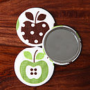Apple Handbag Mirror And Pouch