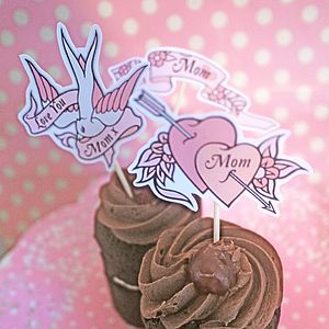 Mother's Day Tattoo Inspired Cake Toppers - cake decorations & toppers