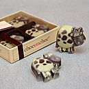 Four Handmade Chocolate Cows