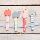 Set Of Four Vintage Style Pegs
