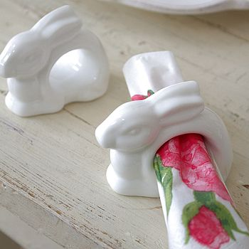 Ceramic Rabbit Napkin Holder