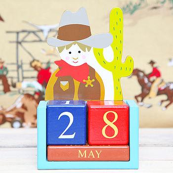 Cowboy Child's Block Desk Calendar