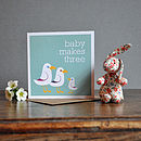'Baby Makes Three' Greeting Card