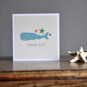 'Thank You' Whale Greeting Card