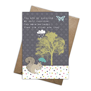 Grey Skies Card