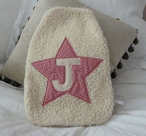 Girl's Star Hot Water Bottle Cover - bedding & accessories