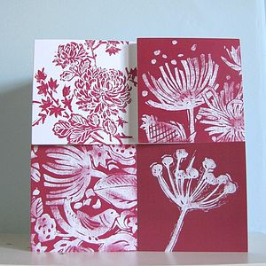 Red Floral Greetings Cards Selection - shop by category