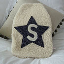 Boy's Star Hot Water Bottle Cover