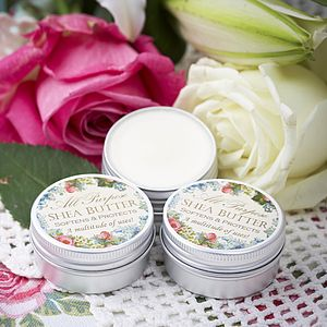 Three Tins Of Pure Shea Body Butter - wedding favours