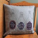Home Sweet Home Embroidered Wool Cushion